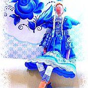 Куклы и игрушки ручной работы. Ярмарка Мастеров - ручная работа Рождественский Ангел в стиле Гжель. Handmade.