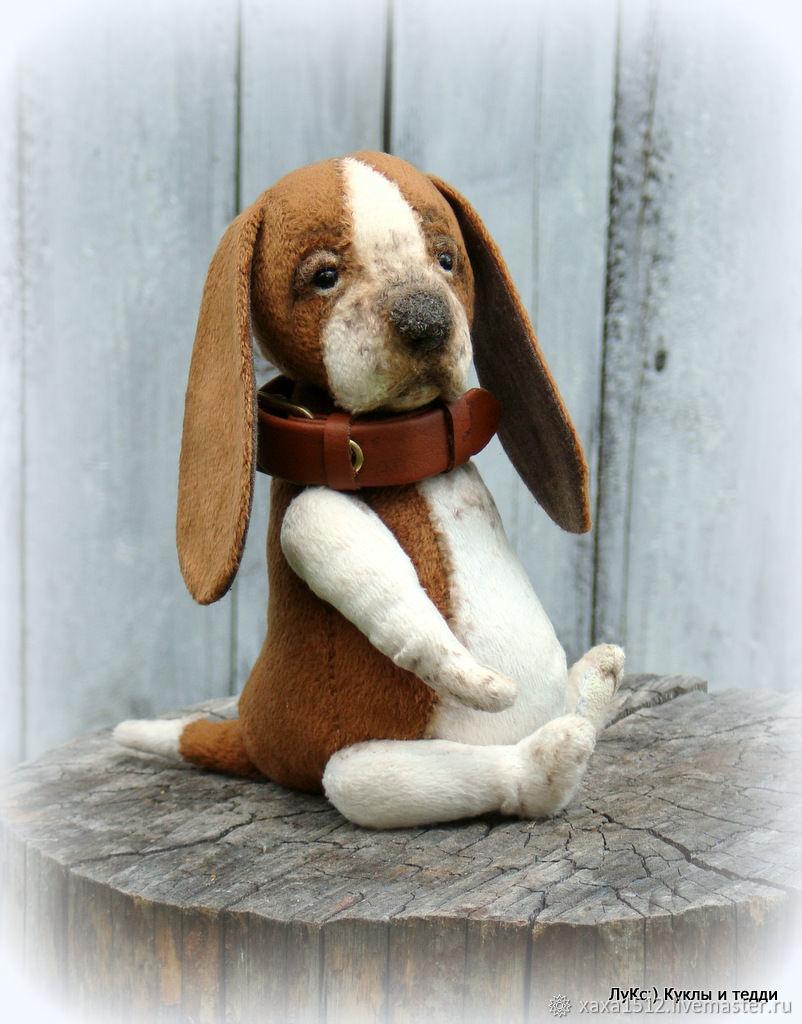Puppy teddy basset Basya, Stuffed Toys, Zelenograd,  Фото №1