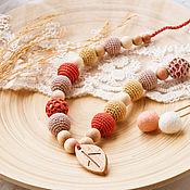 Одежда handmade. Livemaster - original item Slingobusy: juniper beads