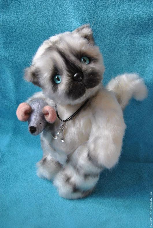 Мишки Тедди ручной работы. Ярмарка Мастеров - ручная работа. Купить тедди-котенок Матвей. Handmade. Серый, тедди в подарок