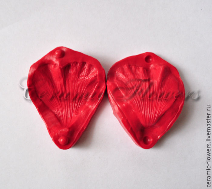 Silicone mold (Weiner) petal mallow ,bilateral, Molds for making flowers, Rostov-on-Don,  Фото №1