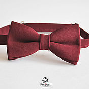 Аксессуары handmade. Livemaster - original item Burgundy tie Marsala / butterfly tie on the purple wedding. Handmade.