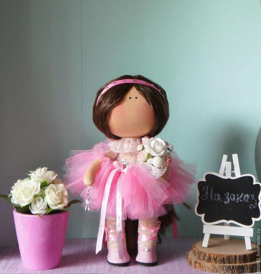Коллекционные куклы ручной работы. Ярмарка Мастеров - ручная работа. Купить Балерина. Handmade. Розовый, кукла текстильная, для дома и интерьера