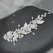 Свадебный салон handmade. Livemaster - original item White wedding twig with flowers. the decoration in the bride`s hairstyle. Handmade.