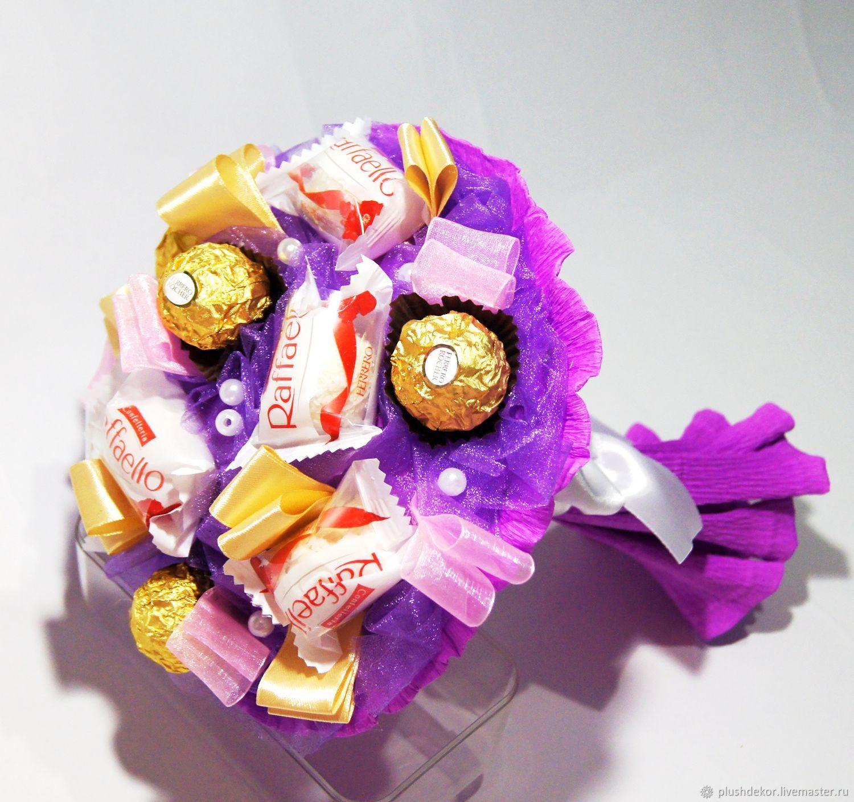 Букета цветов, интернет магазин букет из конфет