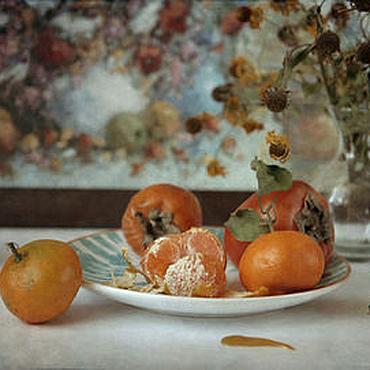 Картины и панно ручной работы. Ярмарка Мастеров - ручная работа Натюрморт фото, картина Мандариновый сезон. Handmade.