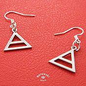 Earrings handmade. Livemaster - original item Triad earrings stainless steel. Handmade.