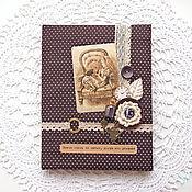 """Канцелярские товары ручной работы. Ярмарка Мастеров - ручная работа Обложка на школьный дневник """"Alice"""". Handmade."""