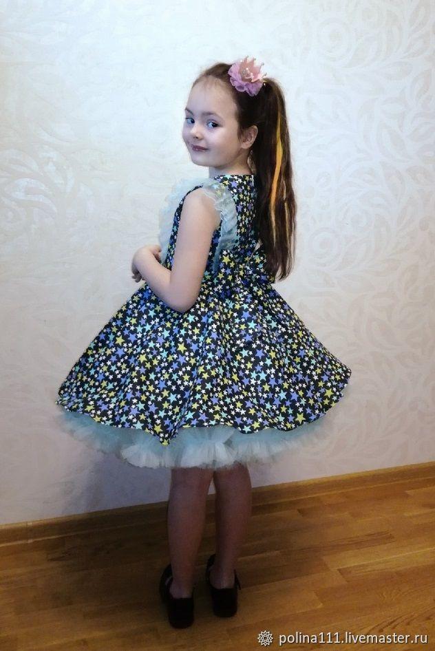 """Платье пышное """"звездкочка"""" 122-128р-р"""