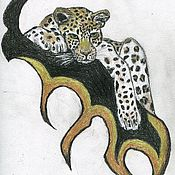 Украшения ручной работы. Ярмарка Мастеров - ручная работа Леопард. Handmade.