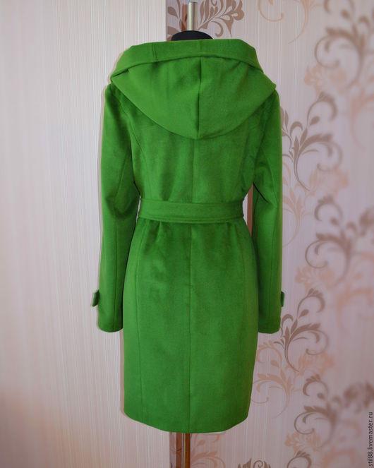 Верхняя одежда ручной работы. Ярмарка Мастеров - ручная работа. Купить Пальто с капюшоном. Handmade. Зеленый, пальто, пальто демисезонное