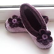 Обувь ручной работы. Ярмарка Мастеров - ручная работа Балетки Слива-Лаванда. Handmade.