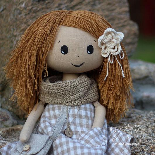 Коллекционные куклы ручной работы. Ярмарка Мастеров - ручная работа. Купить Гинтаре, текстильная кукла. Handmade. Кукла в подарок, рыжий
