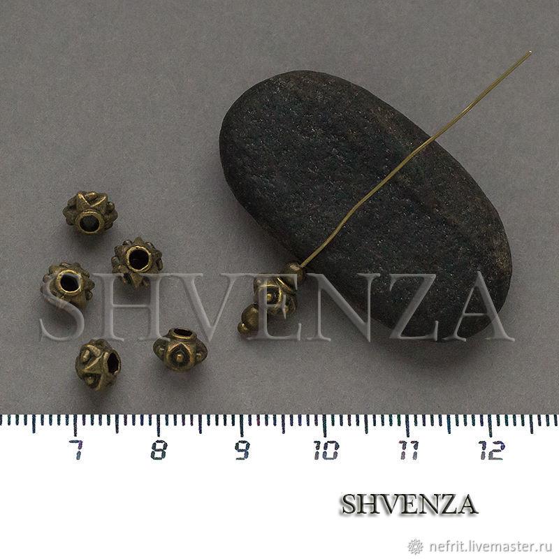 Бусины металлические цвет бронза Артикул 007-144, Бусины, Санкт-Петербург,  Фото №1