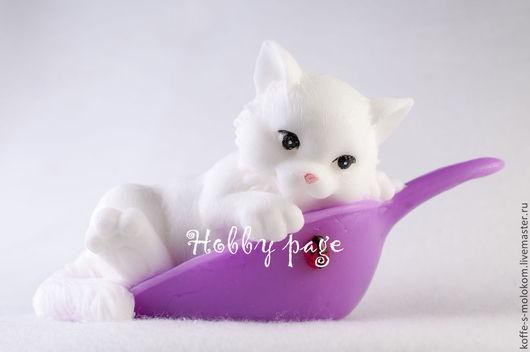 Материалы для косметики ручной работы. Ярмарка Мастеров - ручная работа. Купить Силиконовая форма для мыла Котёнок в совке. Handmade.