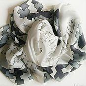 Аксессуары handmade. Livemaster - original item Hand painted shawl Silk painting batik Exclusive shawl. Handmade.