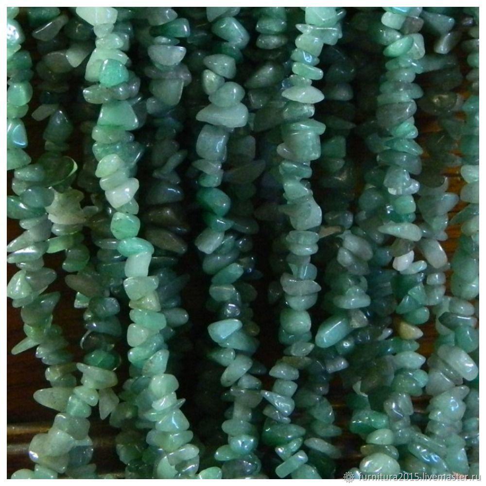 Нефрит 86 см крошка каменная. Нить, Бусины, Саратов,  Фото №1
