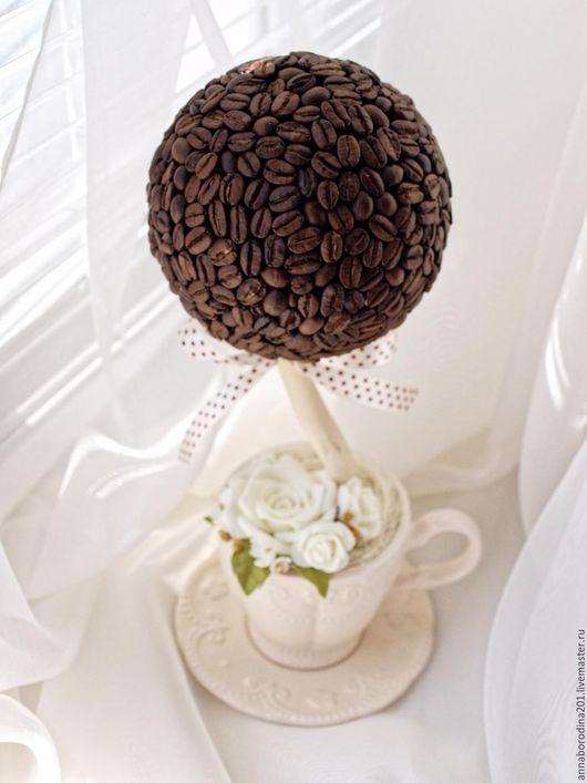 Деревья ручной работы. Ярмарка Мастеров - ручная работа. Купить кофейное дерево. Handmade. Кофе, кофейное дерево, подарок, для интерьера