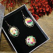 Украшения handmade. Livemaster - original item Earrings and ring