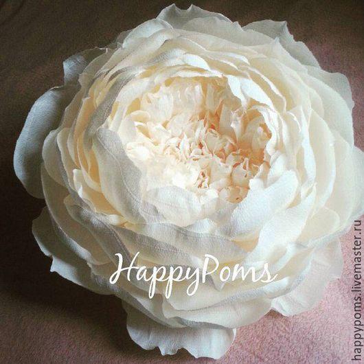 Свадебные цветы ручной работы. Ярмарка Мастеров - ручная работа. Купить Большие цветы из бумаги на плоской основе. Handmade. Комбинированный