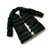 Одежда handmade. Livemaster - original item Down Jacket Warm & Sexy Thick Black. Handmade.
