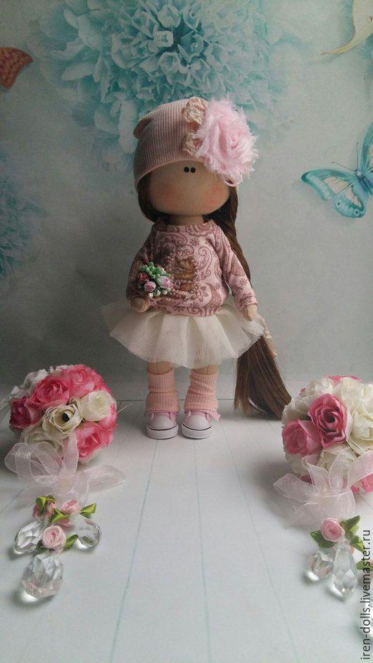 Куклы тыквоголовки ручной работы. Ярмарка Мастеров - ручная работа. Купить нежная малышка. Handmade. Бледно-розовый, подарок на выписку