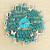 """Для дома и интерьера ручной работы. Ярмарка Мастеров - ручная работа Часы с индивидуальным дизайном """"Тёплые слова"""". Handmade."""