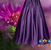 """Одежда ручной работы. Ярмарка Мастеров - ручная работа Фиолетовая атласная юбка """"Дымка"""". Handmade."""