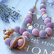 Одежда handmade. Livemaster - original item Slingobusy and teething toy with silicone beads. Handmade.