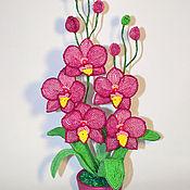 Цветы и флористика ручной работы. Ярмарка Мастеров - ручная работа Орхидея из бисера Елизавета. Handmade.