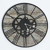 Часы классические ручной работы. Ярмарка Мастеров - ручная работа Часы настенные в стиле лофт №1. Handmade.
