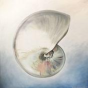 Картины и панно handmade. Livemaster - original item Oil painting Nautilus 80h80 cm. Handmade.