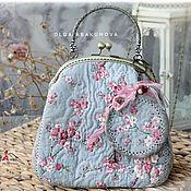 Сумки и аксессуары handmade. Livemaster - original item Beautiful spring handbag and round purse (1).. Handmade.