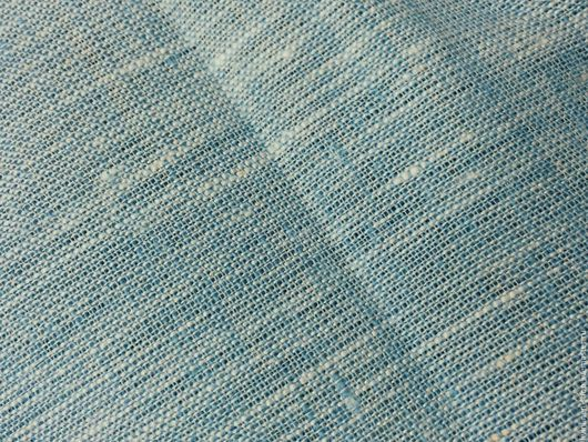 Шитье ручной работы. Ярмарка Мастеров - ручная работа. Купить Лен голубой меланж, ширина 260 см. Handmade. Голубой