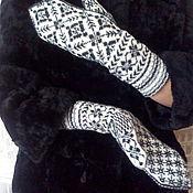 Аксессуары handmade. Livemaster - original item Mittens wool handmade. Handmade.