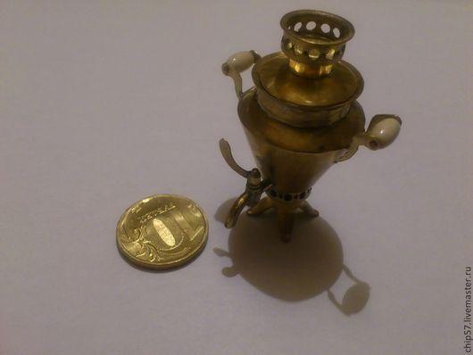 Миниатюрные модели ручной работы. Ярмарка Мастеров - ручная работа. Купить Самовар. Handmade. Желтый, миниатюра