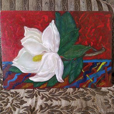 Картины и панно ручной работы. Ярмарка Мастеров - ручная работа Магнолия. Handmade.