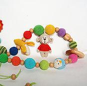 """Работы для детей, ручной работы. Ярмарка Мастеров - ручная работа Слингобусы """"Обезьянка"""" с игрушками. Handmade."""