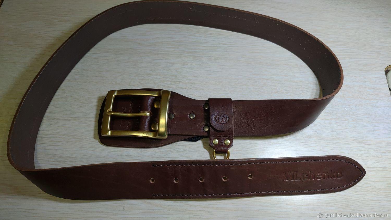 Belts: men's leather belt, Straps, Chelyabinsk,  Фото №1