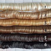 Материалы для творчества ручной работы. Ярмарка Мастеров - ручная работа Волосы прямые 5см 7 цветов. Handmade.