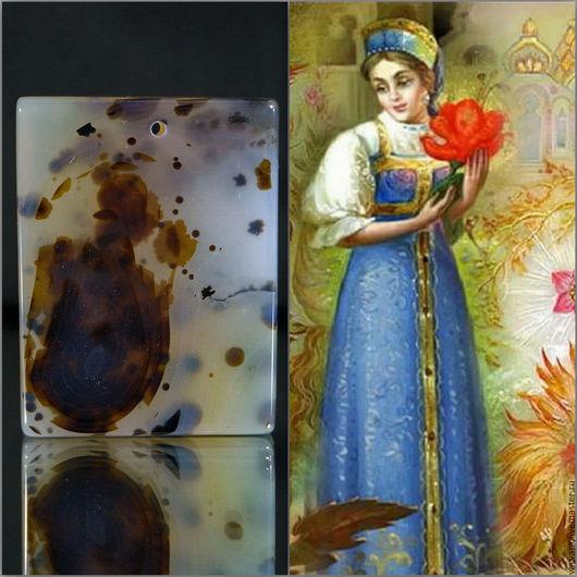Для украшений ручной работы. Ярмарка Мастеров - ручная работа. Купить Аленький цветочек. Уникальный агат для вашей коллекции. Handmade.