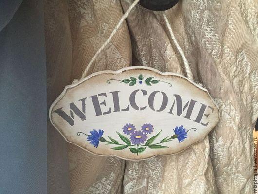 Табличка на дверь Welcome. Нефедова Екатерина.