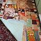 """Текстиль, ковры ручной работы. Покрывало по мотивам """"мартовских котов"""". Мастерская текстиля 'Happy House'. Интернет-магазин Ярмарка Мастеров."""