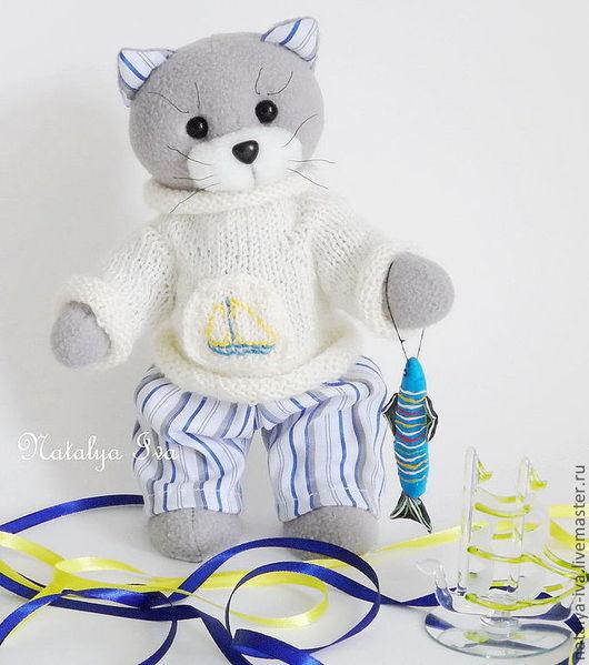 Котик Марсик, текстильная игрушка ручной работы. Автор Наталья Ива