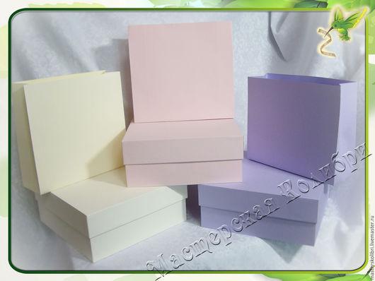 """Упаковка ручной работы. Ярмарка Мастеров - ручная работа. Купить Коробки картонные """"Пастель"""" с пакетиками на заказ. Handmade. Бледно-розовый"""