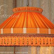 Для дома и интерьера ручной работы. Ярмарка Мастеров - ручная работа Абажур «Оранжевая полоска». Handmade.