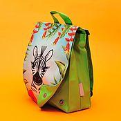 Работы для детей, ручной работы. Ярмарка Мастеров - ручная работа Рюкзак детский с принтом Зебра. Handmade.