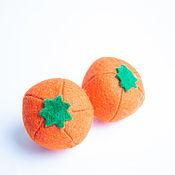 Кукольная еда ручной работы. Ярмарка Мастеров - ручная работа Апельсин из фетра фрукты из фетра. Handmade.