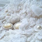 """Свадебный салон ручной работы. Ярмарка Мастеров - ручная работа Колье и браслет """"Белое облако"""". Handmade."""
