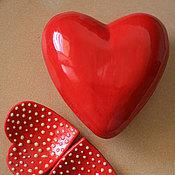 Для дома и интерьера ручной работы. Ярмарка Мастеров - ручная работа Сердце. Украшение на стену. Керамика.. Handmade.